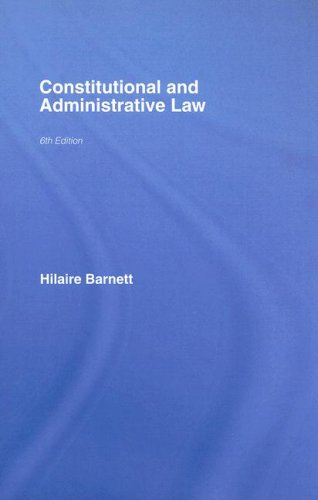 9781845680664: Constitutional & Administrative Law