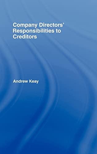 9781845680756: Company Directors' Responsibilities to Creditors