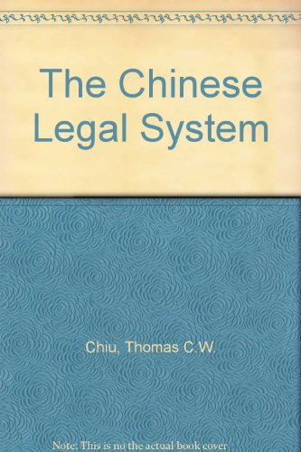 9781845680916: The Chinese Legal System