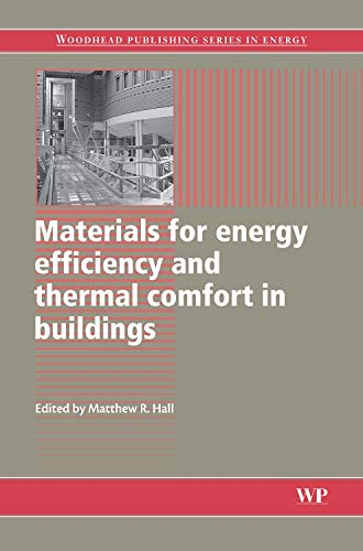 9781845695262: Materials for Energy Efficiency and Thermal Comfort in Buildings (Woodhead Publishing Series in Energy)
