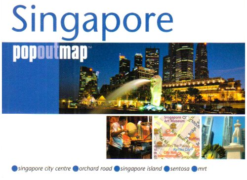 9781845876302: Singapore PopOut Map: pop-up city street map of Singapore city center - folded pocket size travel map with transit map included (PopOut Maps)