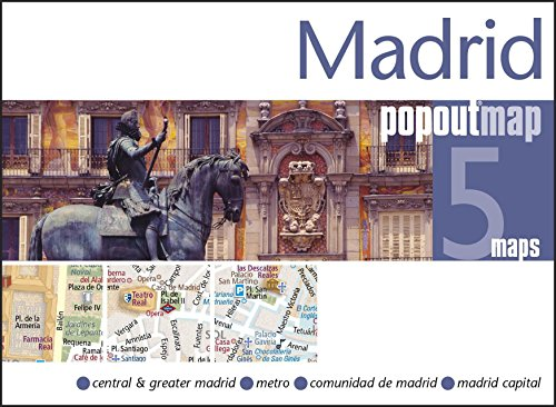 Madrid PopOut Map: pop-up city street map of Madrid city center - folded pocket size travel map ...