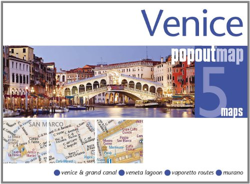 9781845877880: Venice PopOut Map: pop-up city street map of Venice city center - folded pocket size travel map with transit map included (PopOut Maps)