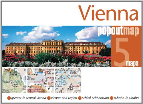 9781845878245: Vienna PopOut Map: pop-up city street map of Vienna city center - folded pocket size travel map with transit map included (PopOut Maps)