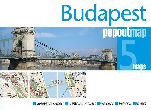 Budapest PopOut Map: pop-up city street map of Budapest city center - folded pocket size travel map...