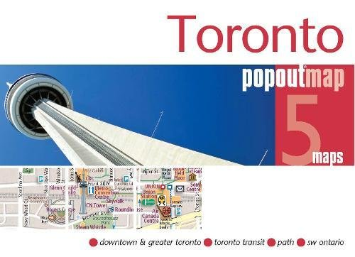 9781845878955: Toronto PopOut Map: pop-up city street map of Toronto city centre - folded pocket size travel map with transit map included (PopOut Maps)