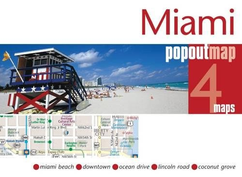 9781845879174: Miami Popout Map: pop-up city street map of Miami and Miami Beach - folded pocket size travel map (Popout Maps)