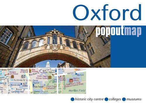 9781845879280: Oxford PopOut Map - pop-up city street map of Oxford city centre - folded pocket size tourist map (PopOut Maps)