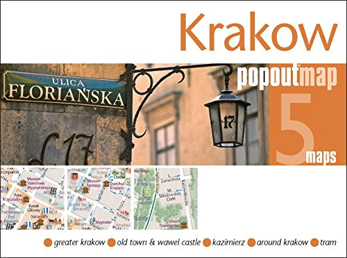 9781845879839: Krakow PopOut Map: Handy pocket-size pop up city map of Krakow (PopOut Maps)
