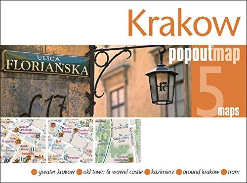 9781845879839: Krakow PopOut Map: Handy pocket-size pop up city map of Krakow (PopOut Maps)