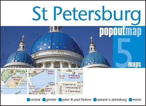9781845879914: St Petersburg Popout Map - handy pocket size pop up St Petersburg city map (PopOut Maps)
