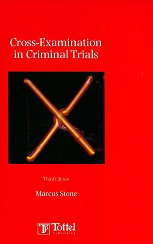 9781845921033: Cross-examinations in Criminal Trials