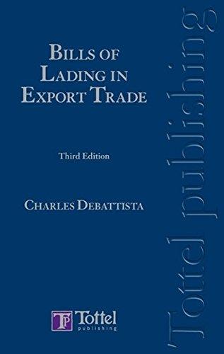 Debattista - Bills of Lading in Export Trade (Hardback): Charles DeBattista