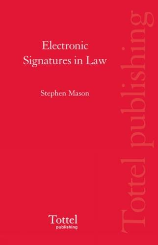 9781845924096: Electronic Signatures in Law