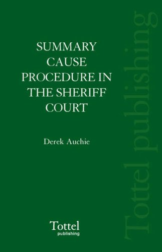 9781845925147: Summary Cause Procedure in the Sheriff Court: 2nd Edition