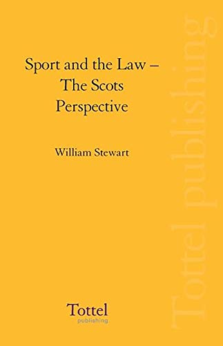 9781845927363: Sport and the Law: The Scots Perspective