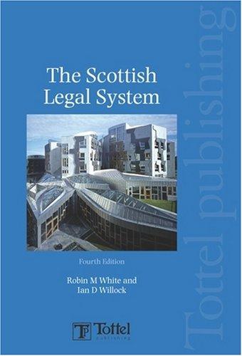 9781845927783: The Scottish Legal System