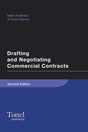 9781845927844: Drafting and Negotiating Commercial Contracts: Second Edition