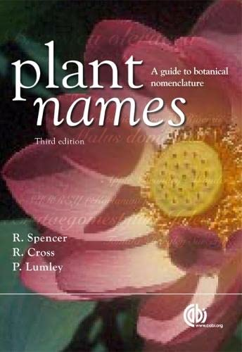 9781845933746: Plant Names: A Guide to Biological Nomenclature (Cabi)