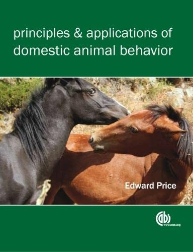 9781845933982: Principles and Applications of Domestic Animal Behavior (Cabi)