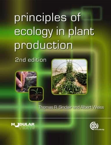 9781845936549: Principles of Ecology in Plant Production (Modular Texts Series)