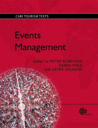 9781845936822: Events Management (Tourism Studies)