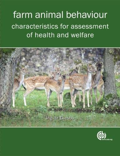 9781845937706: Farm Animal Behaviour: Characteristics for Assessment of Health and Welfare