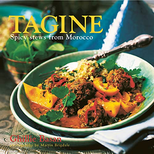 Tagine: Spicy Stews from Morocco (Hardback) 9781845974787 Few meals are more satisfying than a hearty tagine--the rich, fragrant Moroccan stew that is served from its own elegant cooking vessel, also called a tagine. Meat, poultry, fish, or vegetables are simmered gently in the steam of the pot's conical lid, and the food, deliciously flavored with spices and fruit, remains tender and moist. In Ghillie Basan's collection of aromatic tagines you will find some of the best-loved classics of the Moroccan kitchen, such as Lamb Tagine with Prunes, Apricots, and Almonds, and the tangy Chicken Tagine with Green Olives and Lemon. Also included are less traditional but equally delectable recipes for beef and meatball tagines. If you enjoy a succulent fish dish, you can try Monkfish Tagine with Potatoes, Cherry Tomatoes, and Olives, or Red Mullet with Lemon and Mint. For vegetarians there is a varied choice, from a sweet, syrupy tagine of Yams, Carrots, and Prunes to a summery dish of Artichoke Hearts with Peas and Saffron. *Every recipe includes suggestions for accompaniments and side dishes. *The perfect introduction to the distinctive tastes of Morocco.