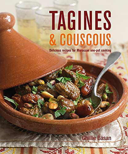 Tagines and Couscous: Delicious Recipes for Moroccan One-Pot Cooking 9781845979478 These hearty one-pot meals, flavoured with fragrant spices, are cooked and served from an elegant, specially designed cooking vessel, also called a tagine. In Ghillie Basan's collection of deliciously authentic recipes you will find some of the best-loved classics of the Moroccan kitchen, such as the sumptuous Lamb Tagine with Dates, Almonds and Pistachios, and the tangy Chicken Tagine with Preserved Lemon, Green Olives and Thyme. Also included are less traditional but equally delicious recipes for beef and fish - try Beef Tagine with Sweet Potatoes, Peas and Ginger or a tagine of Monkfish, Potatoes, Tomatoes and Black Olives. Hearty vegetable tagines include Baby Aubergine with Coriander and Mint, and Butternut Squash, Shallots, Sultanas and Almonds. Recipes for variations on couscous, the classic accompaniment to tagines, are also given plus plenty of ideas for fresh-tasting salads and vegetable side dishes to serve as part of your Moroccan-style feast.