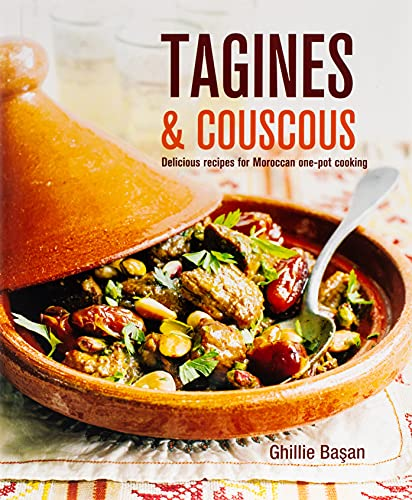 Tagines and Couscous Format: Hardcover 9781845979485 These hearty one-pot meals, flavored with fragrant spices, are cooked and served from an elegant, specially designed cooking vessel, also called a tagine. In Ghillie Basan's collection of deliciously authentic recipes you will find some of the best-loved classics of the Moroccan kitchen, such as the sumptuous Lamb Tagine with Dates, Almonds, and Pistachios, and the tangy Chicken Tagine with Preserved Lemon, Green Olives, and Thyme. Also included are less traditional but equally delicious recipes for beef and fish—try Beef Tagine with Sweet Potatoes, Peas, and Ginger or a tagine of Monkfish, Potatoes, Tomatoes, and Black Olives. Substantial vegetable tagines include Baby Eggplant with Cilantro and Mint, and Butternut Squash, Shallots, Golden Raisins, and Almonds. Recipes for variations on couscous, the classic accompaniment to tagines, are also given, plus plenty of ideas for fresh-tasting salads and vegetable sides to serve alongside and complete your Moroccan-style feast.