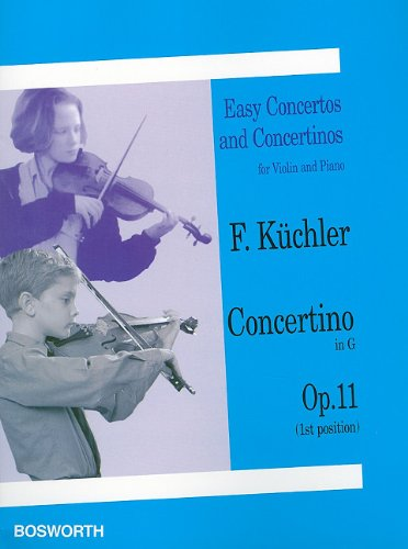 9781846090981: Concertino in G, Op. 11 (1st and 3rd position): Easy Concertos and Concertinos Series for Violin and Piano