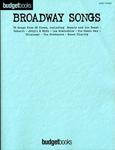 9781846093487: Broadway songs (easy piano) piano, voix, guitare