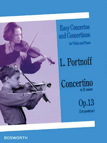 9781846095320: Concertino in E Minor, Op. 13: Easy Concertos and Concertinos Series for Violin and Piano (Easy Concertos and Concertinos for Violin and Piano)