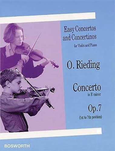 9781846095504: RIEDING CONCERTINO IN E MINOR OP7 VIOLIN/PIANO (Easy Concertos and Concertinos for Violin and Piano)