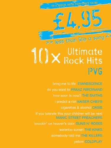 9781846095580: 10x Ultimate Rock Hits Piano, Voix, Guitare: PVG