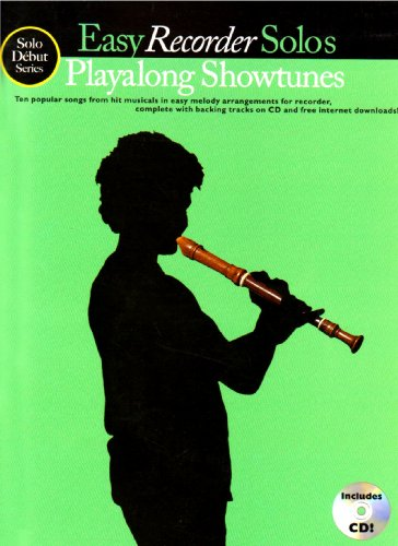 9781846096136: Solo Debut Playalong Showtunes Easy Recorder Solos Book/Cd