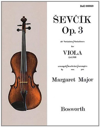 9781846098802: Sevcik Opus 3 - 40 Variations for Viola: Arranged by Margaret Major