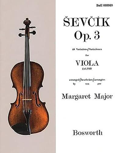 9781846098802: Sevcik Op. 3: 40 Variations / Variationen for Viola (Alto).