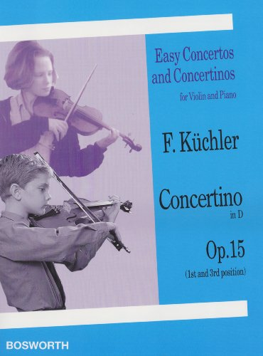 9781846099205: Concertino in D, Op. 15 (1st and 3rd Position): Violin and Piano