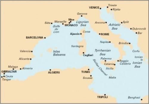 9781846233531: Imray Chart M10: Western Mediterranean - Gibraltar to the Ionian Sea