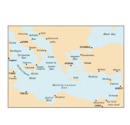 9781846233845: Imray Chart M20: Eastern Medeiterranean Passage Chart - Sardinia to Cyprus and Port Said
