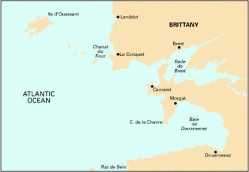 9781846234071: Imray Chart C36: Ile D'ouessant to Raz De Sein