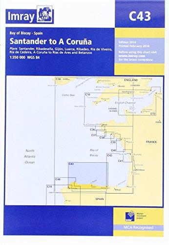 9781846236006: Imray Chart C43: Santander to A Coruna