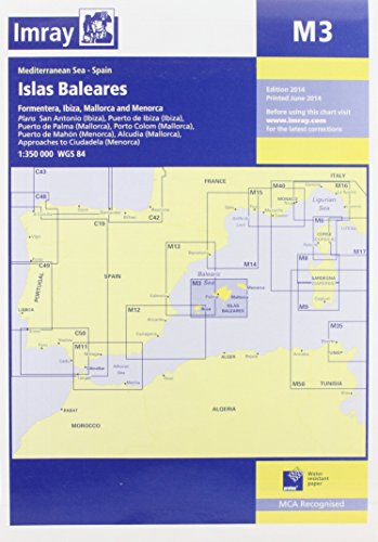 9781846236242: Imray Chart M3: Islas Baleares