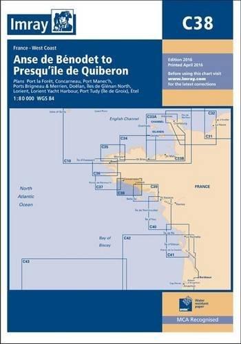 9781846237171: Imray Chart C38: Anse de Benodet to Presqu'ile de Quiberon