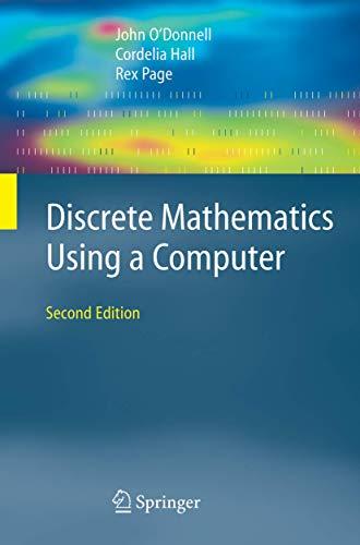 9781846282416: Discrete Mathematics Using a Computer
