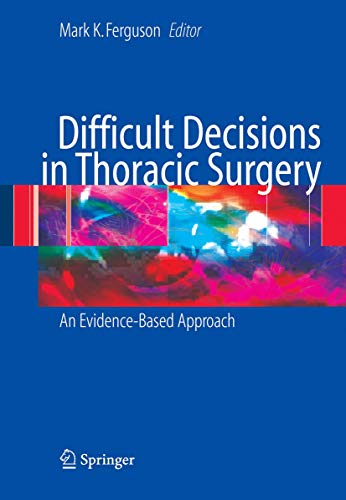 9781846283840: Difficult Decisions in Thoracic Surgery: An Evidence-Based Approach