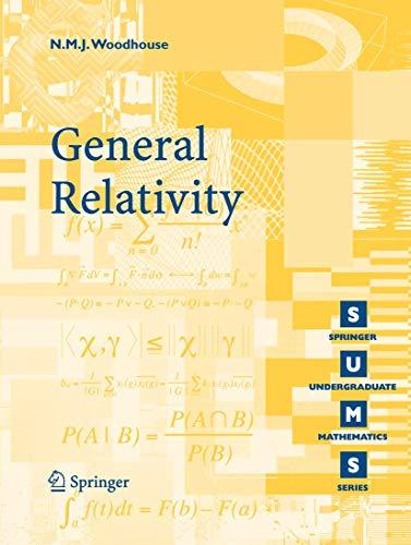 9781846284861: General Relativity (Springer Undergraduate Mathematics Series)