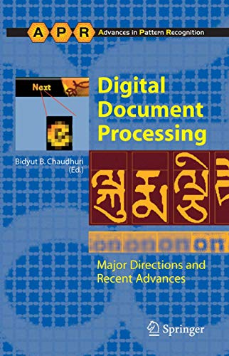 9781846285011: Digital Document Processing: Major Directions and Recent Advances (Advances in Computer Vision and Pattern Recognition)