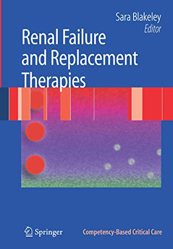 9781846289361: Renal Failure and Replacement Therapies (Competency-Based Critical Care)